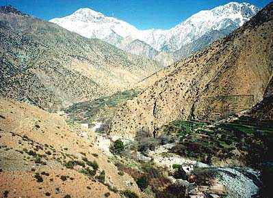 View of the High Atlas Mountains In Morocco by Nazmiyal