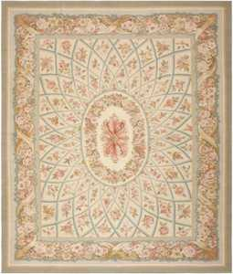 Modern Aubusson Rug 44690 Detail/Large View