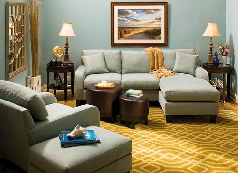 Celebrity Interior Designs - Living Room Interior Design by Cindy Crawford by Nazmiyal