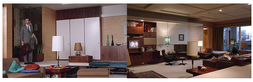 Mad Men Interior Design and Mid-Century Decor by Nazmiyal