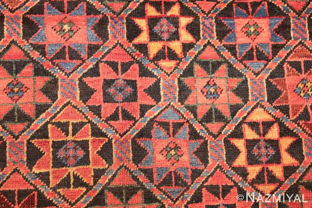 antique persian bakshaish gallery rug 45892 detailed Nazmiyal