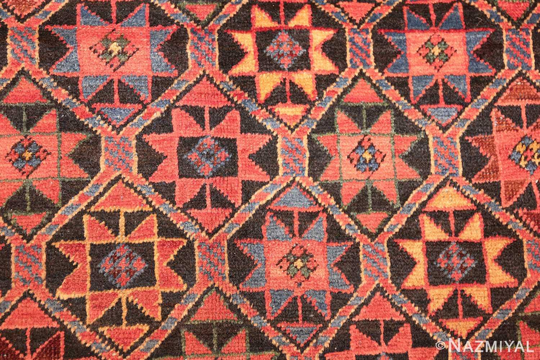 antique persian bakshaish gallery rug 45892 detailed Nazmiyal