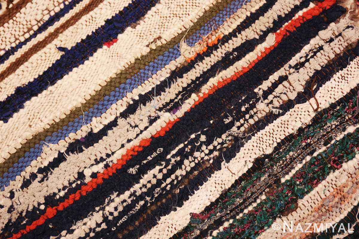 Weave detail Vintage Moroccan rug 46051 by Nazmiyal