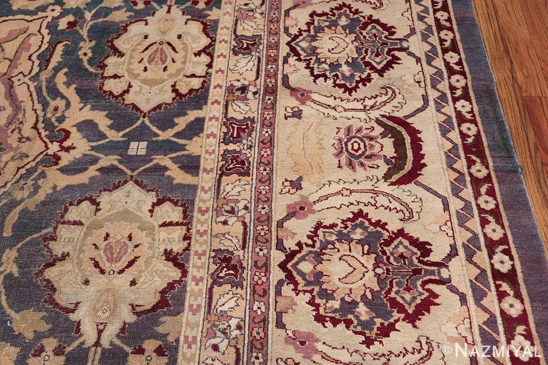 Beautiful Large Antique Indian Agra Rug 45976 Border Design Nazmiyal