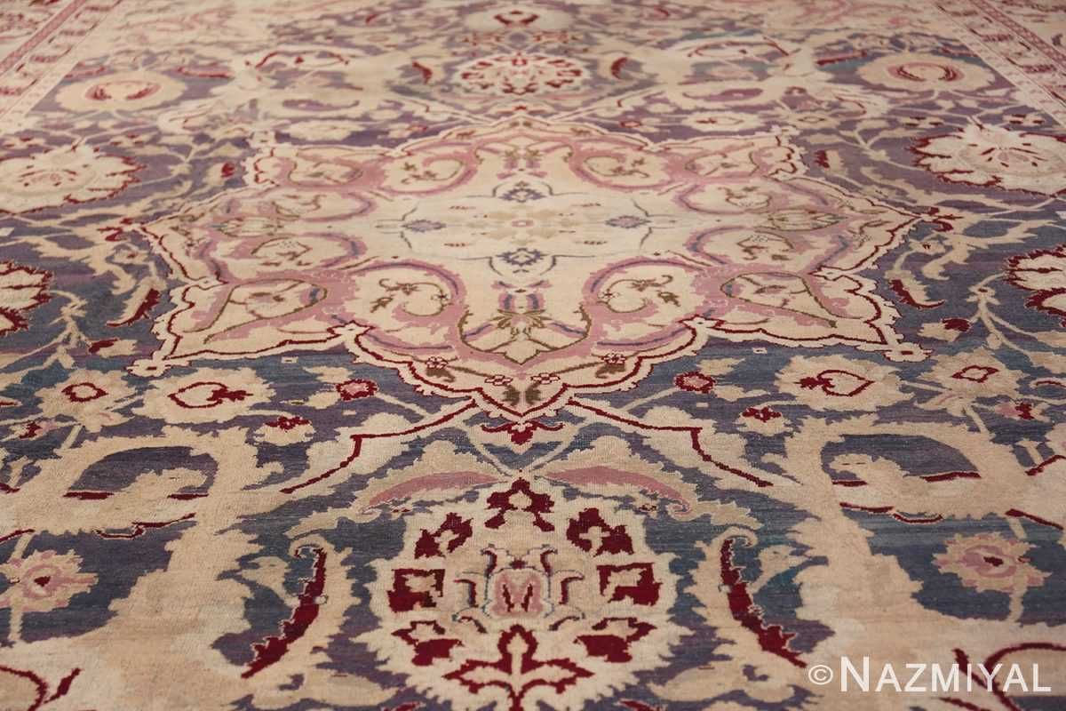 Beautiful Large Antique Indian Agra Rug 45976 Central Medallion Nazmiyal