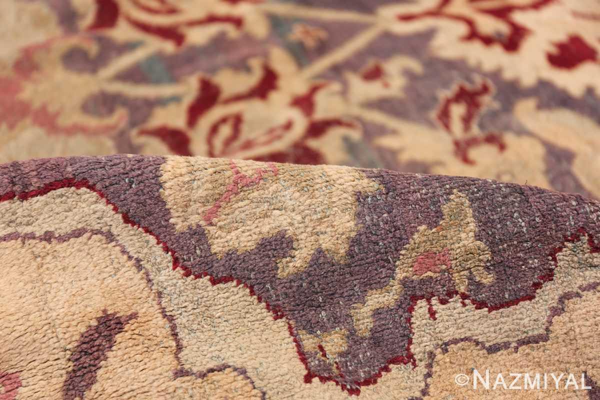 Beautiful Large Antique Indian Agra Rug 45976 Colorful Pile Nazmiyal