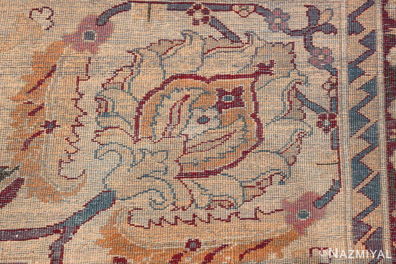 Beautiful Large Antique Indian Agra Rug 45976 Knots Woven Nazmiyal