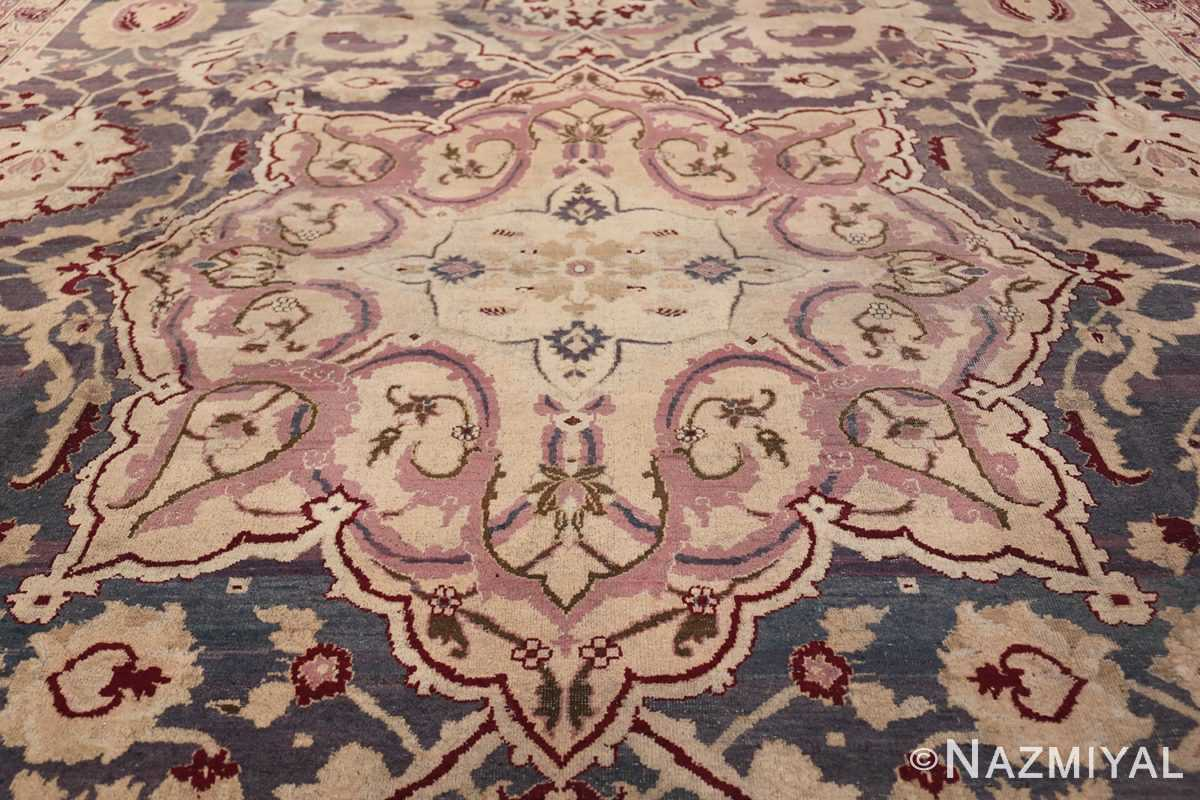 Beautiful Large Antique Indian Agra Rug 45976 Middle Part Nazmiyal