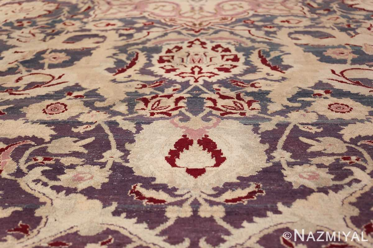 Beautiful Large Antique Indian Agra Rug 45976 Scrolls Field Nazmiyal