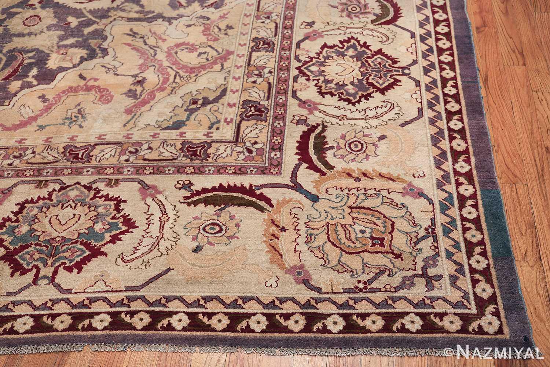 Beautiful Large Antique Indian Agra Rug 45976 Side Corner Nazmiyal