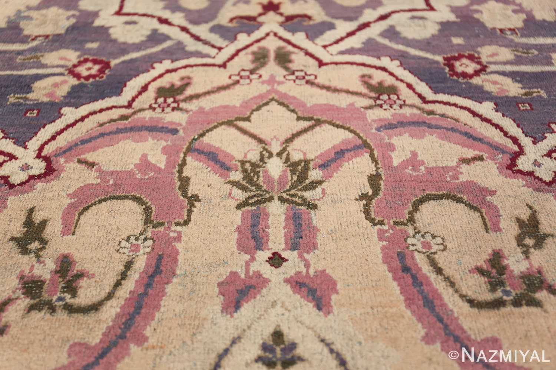 Beautiful Large Antique Indian Agra Rug 45976 Texture Nazmiyal
