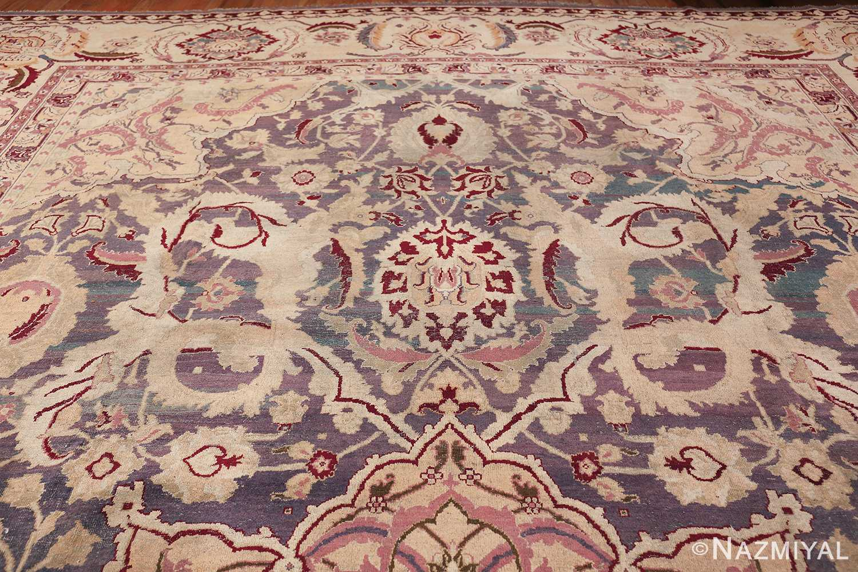 Beautiful Large Antique Indian Agra Rug 45976 Top Design Nazmiyal