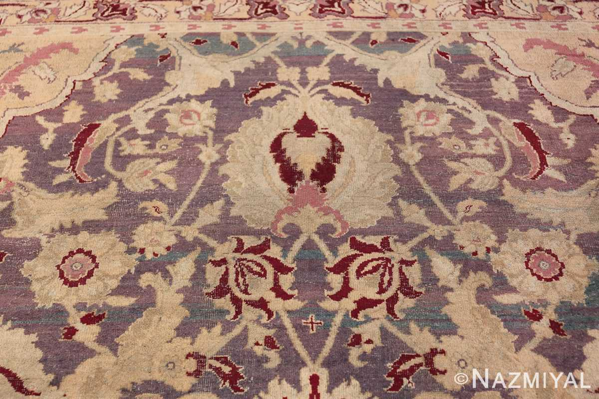 Beautiful Large Antique Indian Agra Rug 45976 Upper Part Nazmiyal