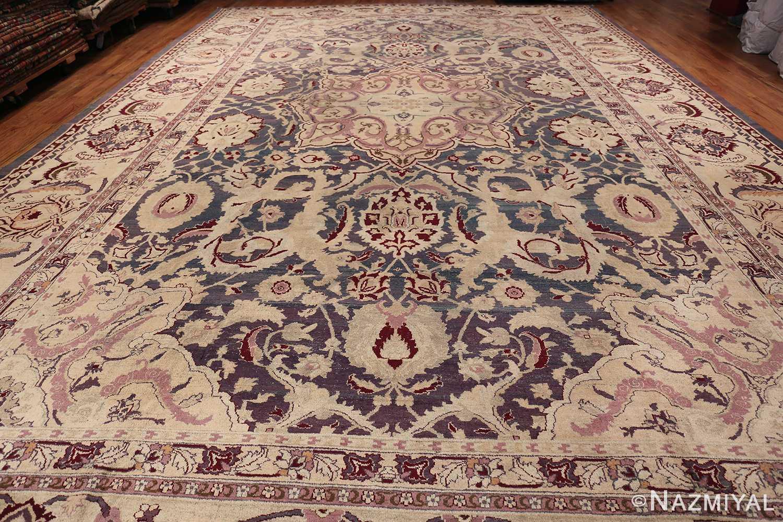 Beautiful Large Antique Indian Agra Rug 45976 Whole Design Nazmiyal