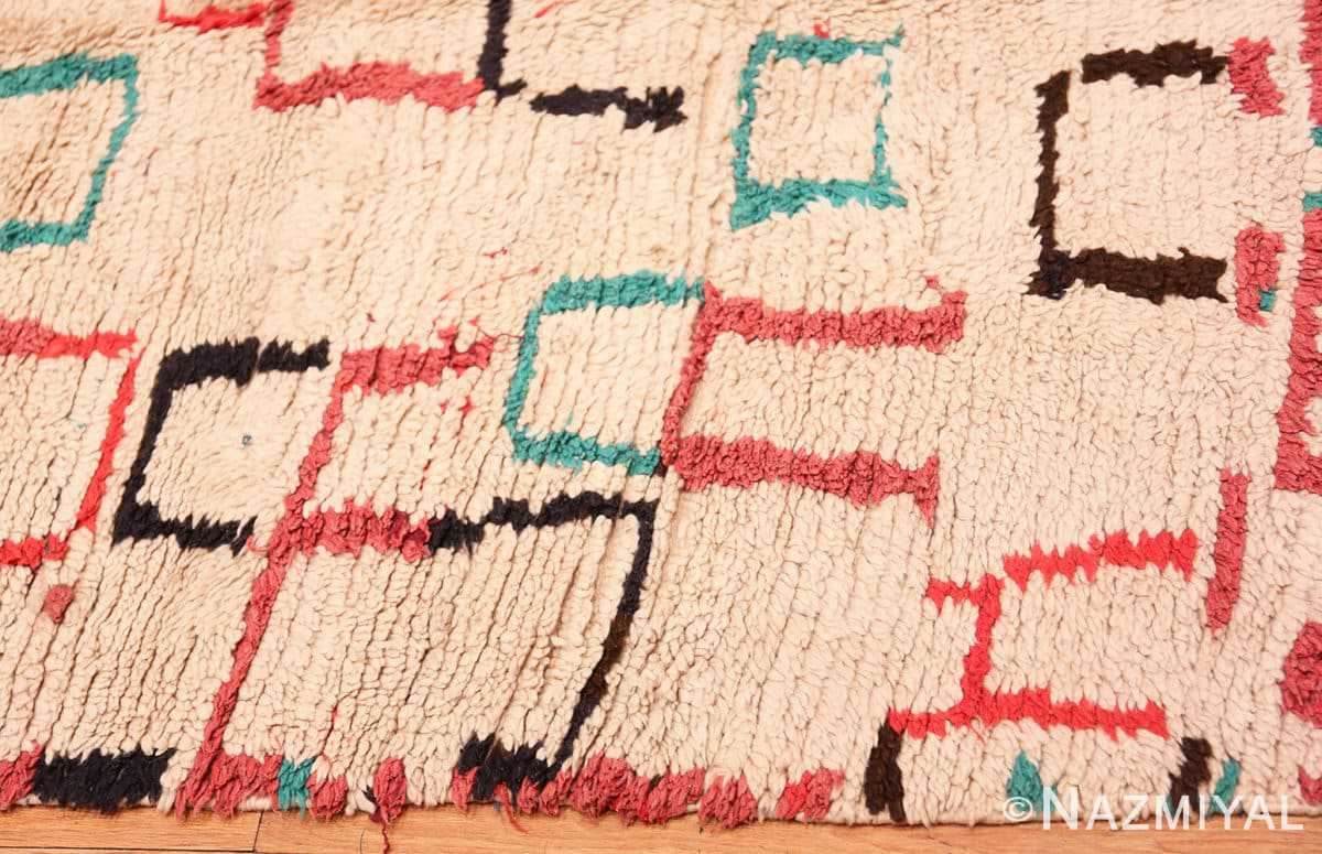 Border Vintage Moroccan rug 46012 by Nazmiyal