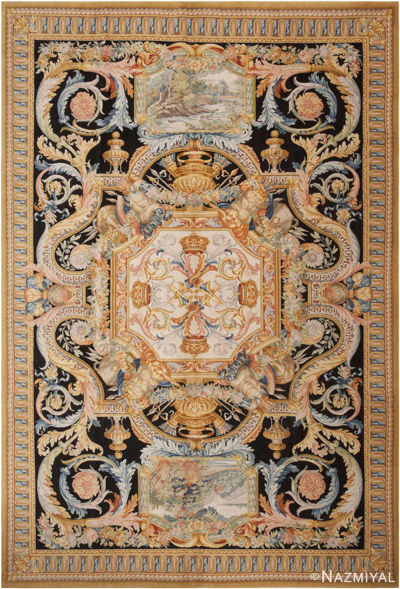 Modern Savonnerie Rug Made In China 44692 By Nazmiyal