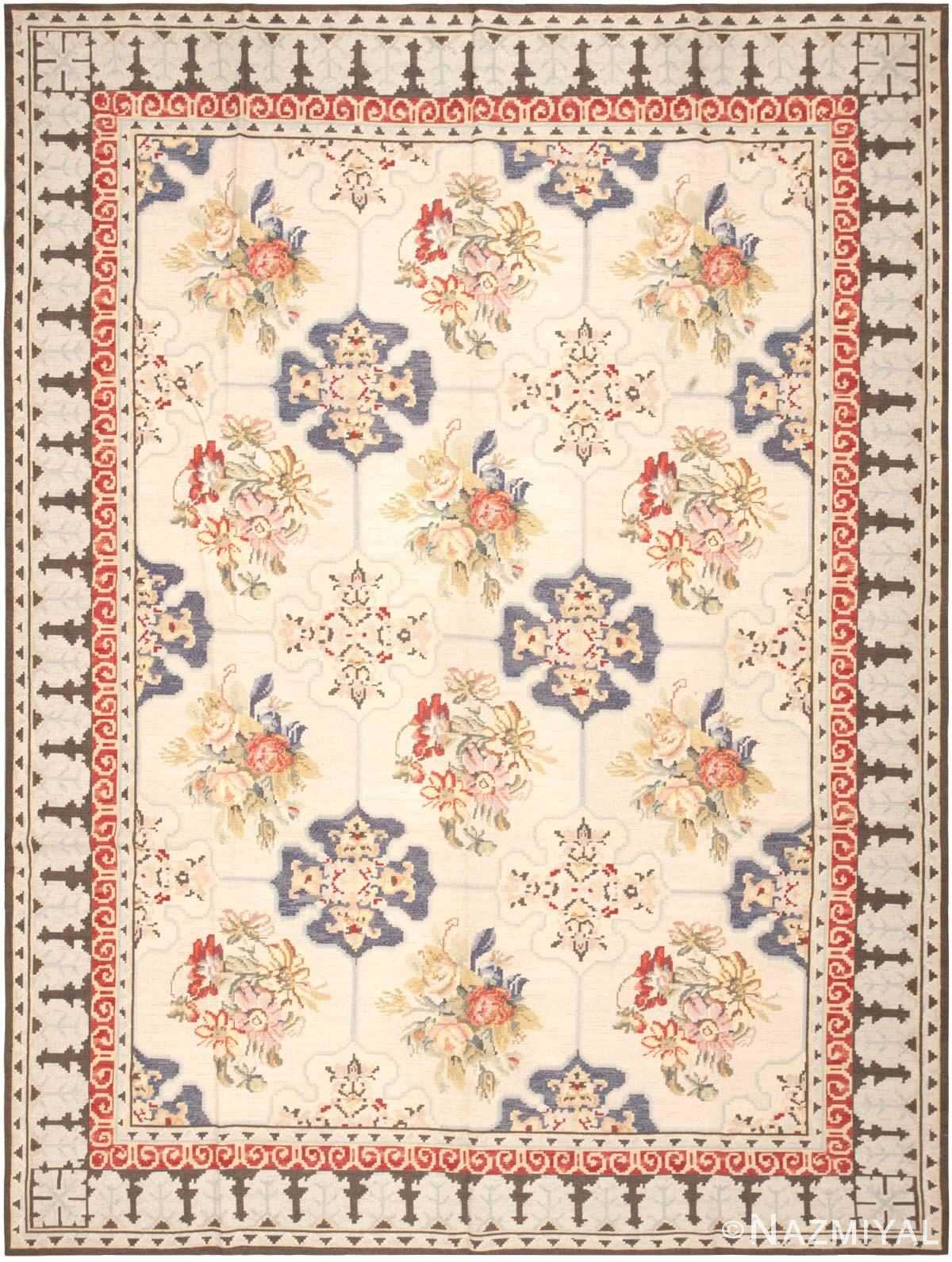 Modern Chinese Needlepoint Carpet 44706 Nazmiyal