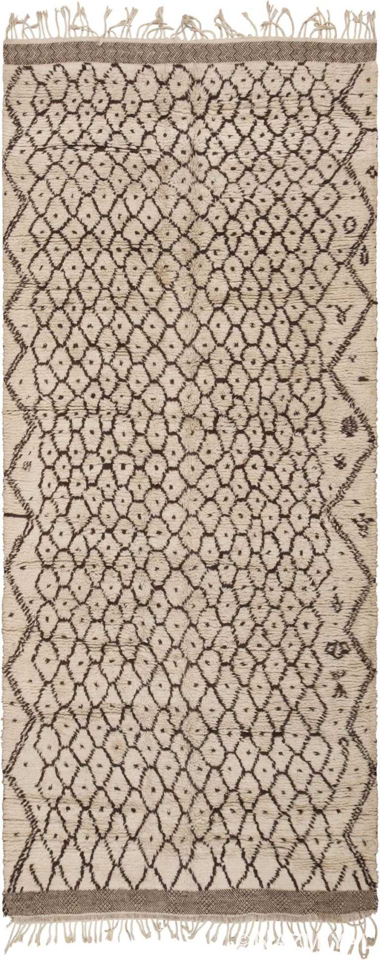 Beni Ourain Vintage Moroccan Rug 46021 from Nazmiyal Antique Rugs in NYC