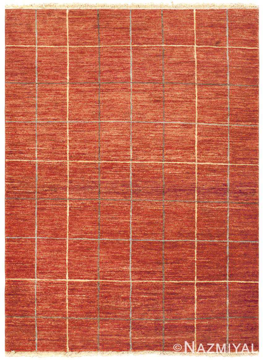 Modern Red Pakistani Rug 46082 Nazmiyal