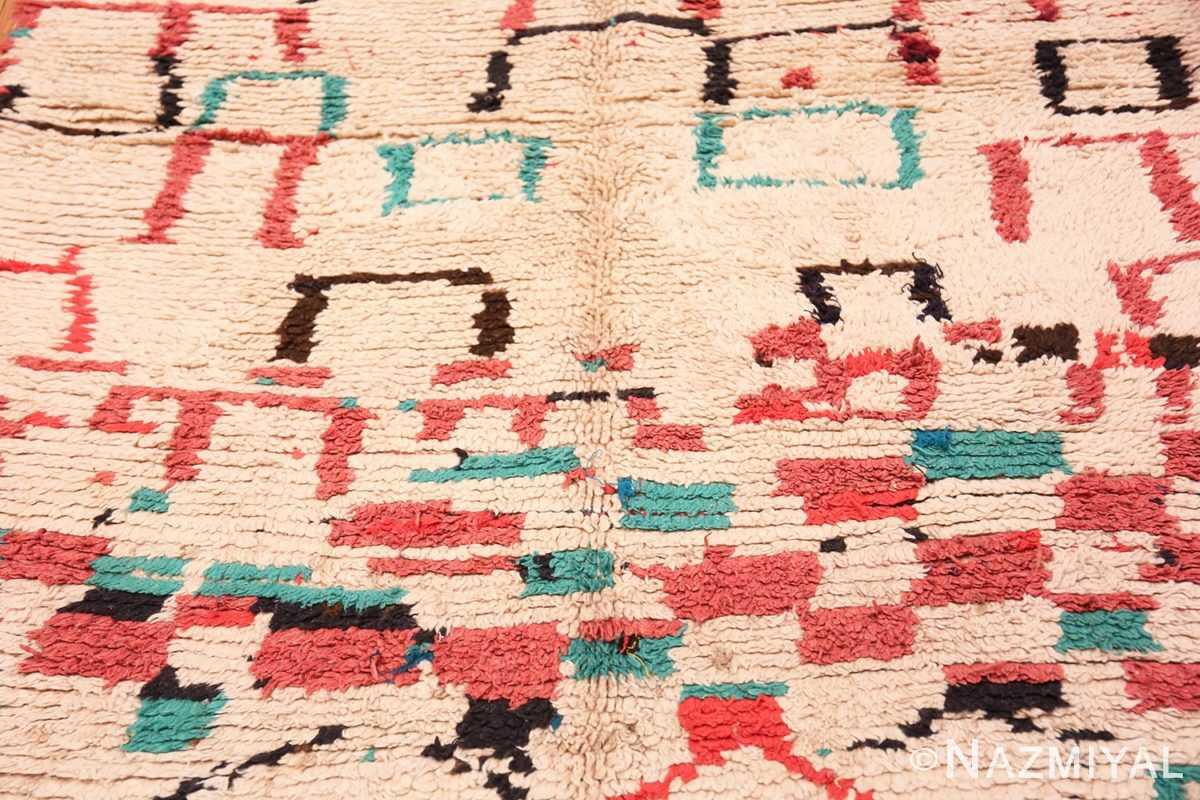 Field Vintage Moroccan rug 46012 by Nazmiyal