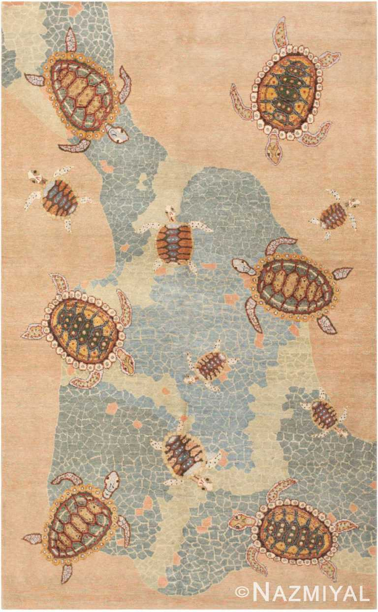Modern Turkish Sea Turtle Area Rug #46085 by Nazmiyal Antique Rugs