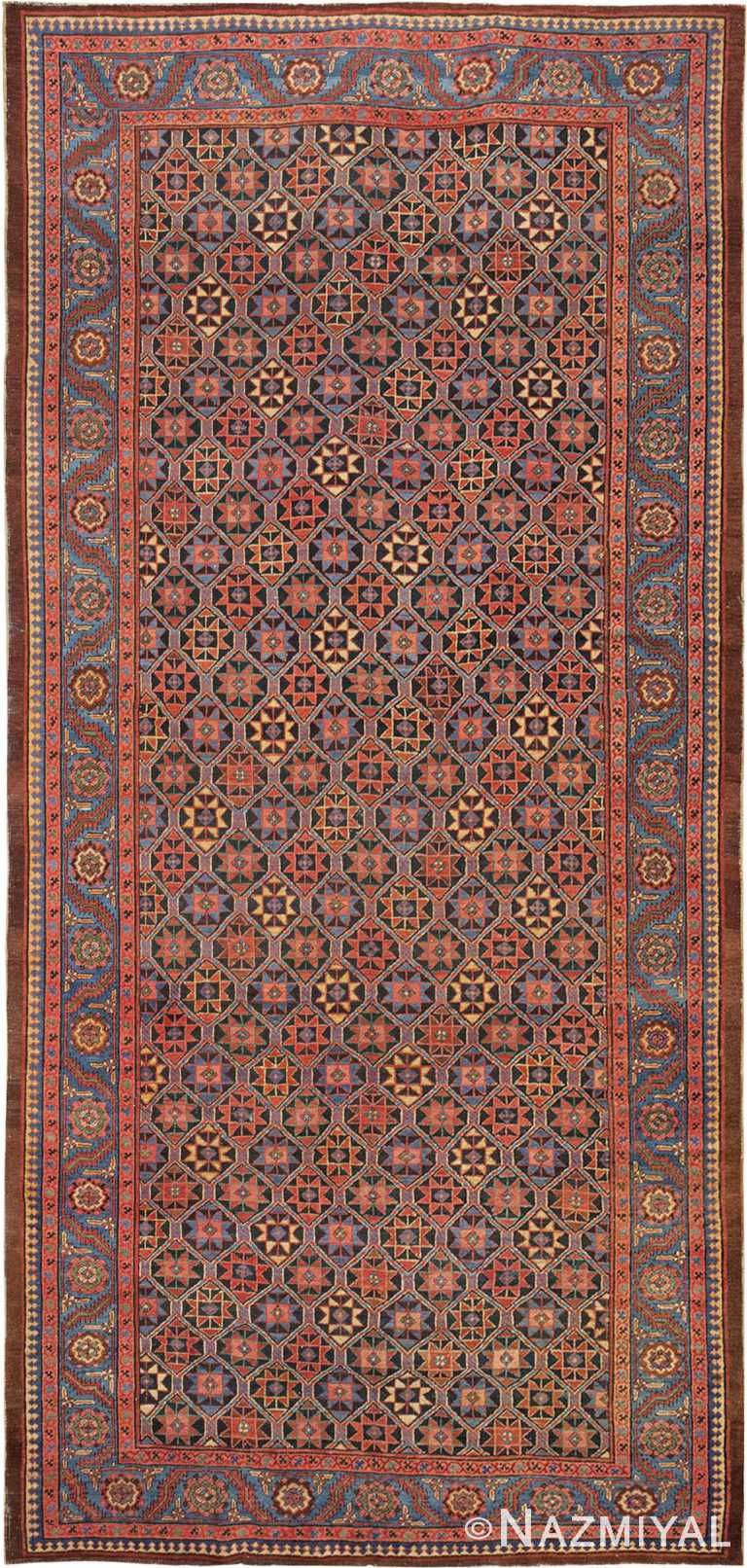 Tribal Antique Persian Bakshaish Gallery Rug #45892 by Nazmiyal Antique Rugs