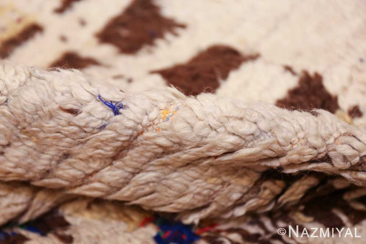 vintage moroccan rug 46008 pile Nazmiyal