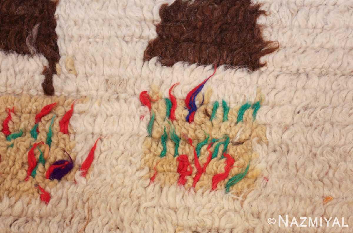vintage moroccan rug 46008 yellow Nazmiyal