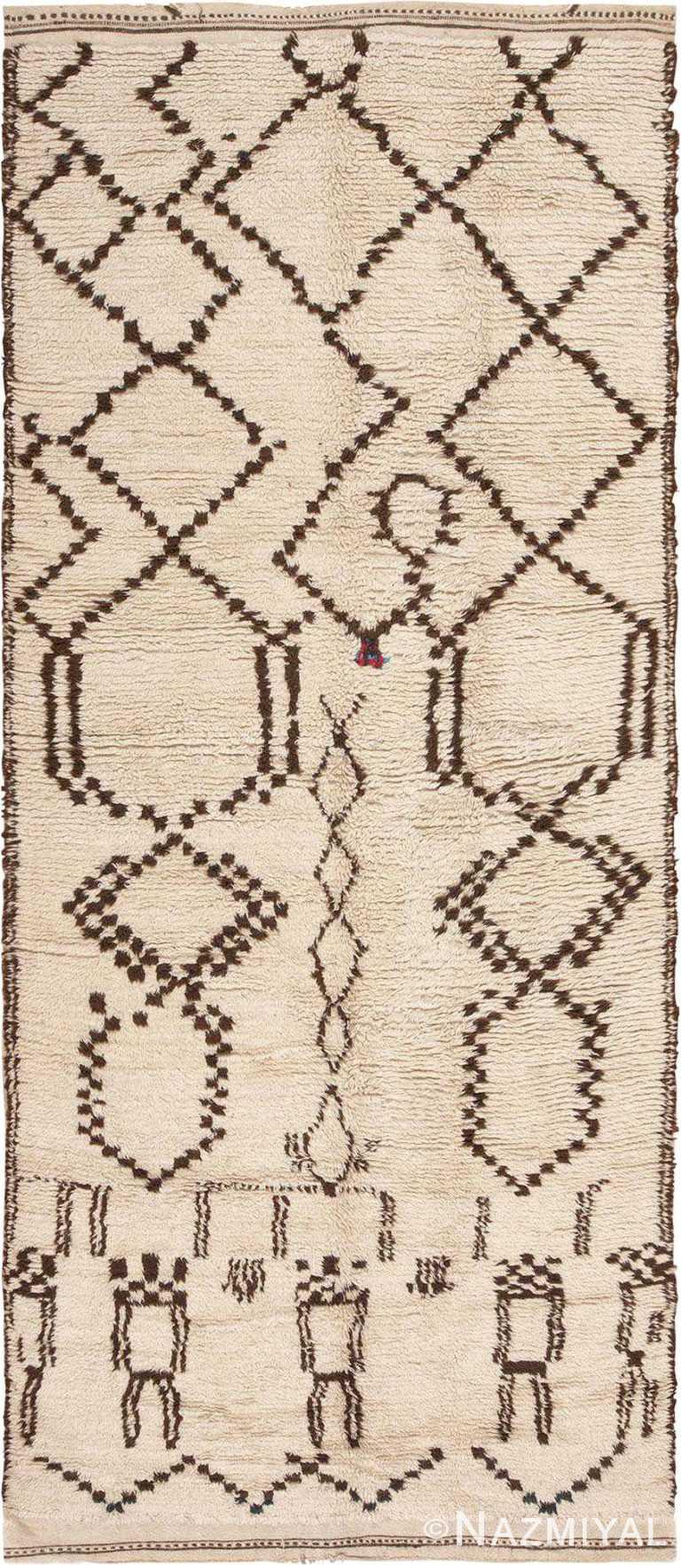 VintageMoroccan Berber Area Rug #46039 by Nazmiyal Antique Rugs