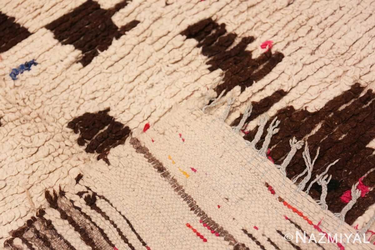 Weave Mid century Modern Vintage Moroccan rug 46050 by Nazmiyal