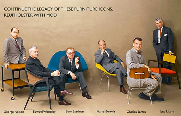 Famous Mid Century Modern Designers - George Nelson, Edward Eormley, Eero Saarinen, Harry Bertoia, Charles Eames, Jens Risom Nazmiyal