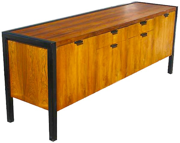 Mid Century Rosewood Credenza Designed by George Nelson For Herman Miller Nazmiyal