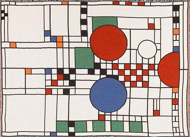Mid Century Modern Frank Lloyd Wright Inspired Rug Nazmiyal