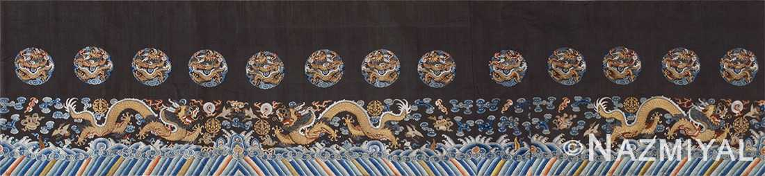 antique chinese embroidery silk and metallic 46115 by Nazmiyal
