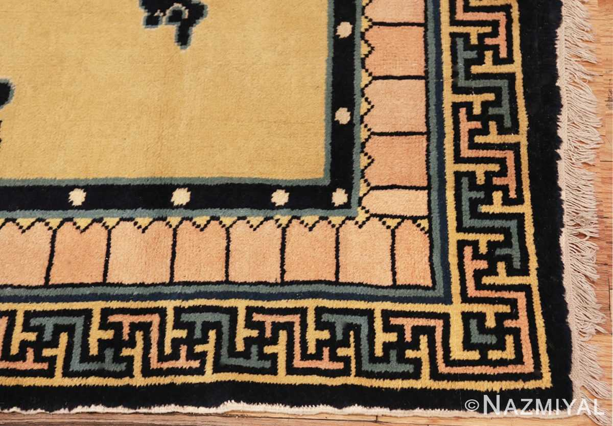 Picture of the corner Antique Chinese Rug 46138