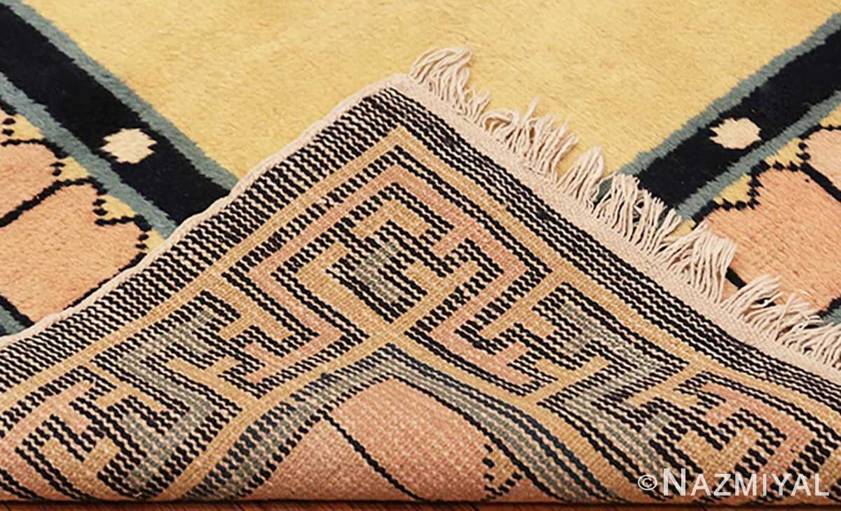 Picture of the weave close up of the Antique Chinese Rug 46138