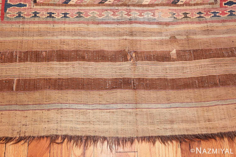 antique persian kilim 46109 end Nazmiyal