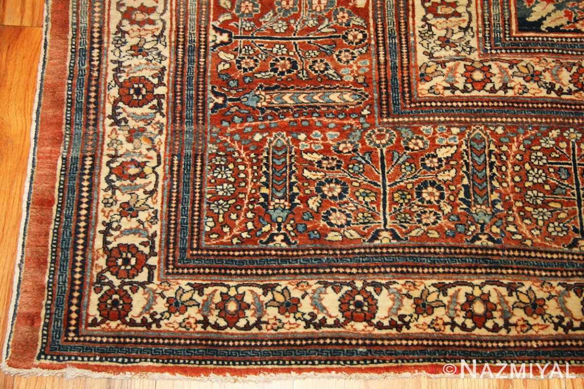 antique tabriz persian rug 45778 corner Nazmiyal