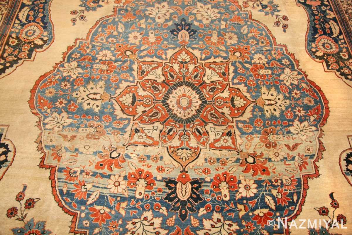 antique tabriz persian rug 45778 medallion Nazmiyal