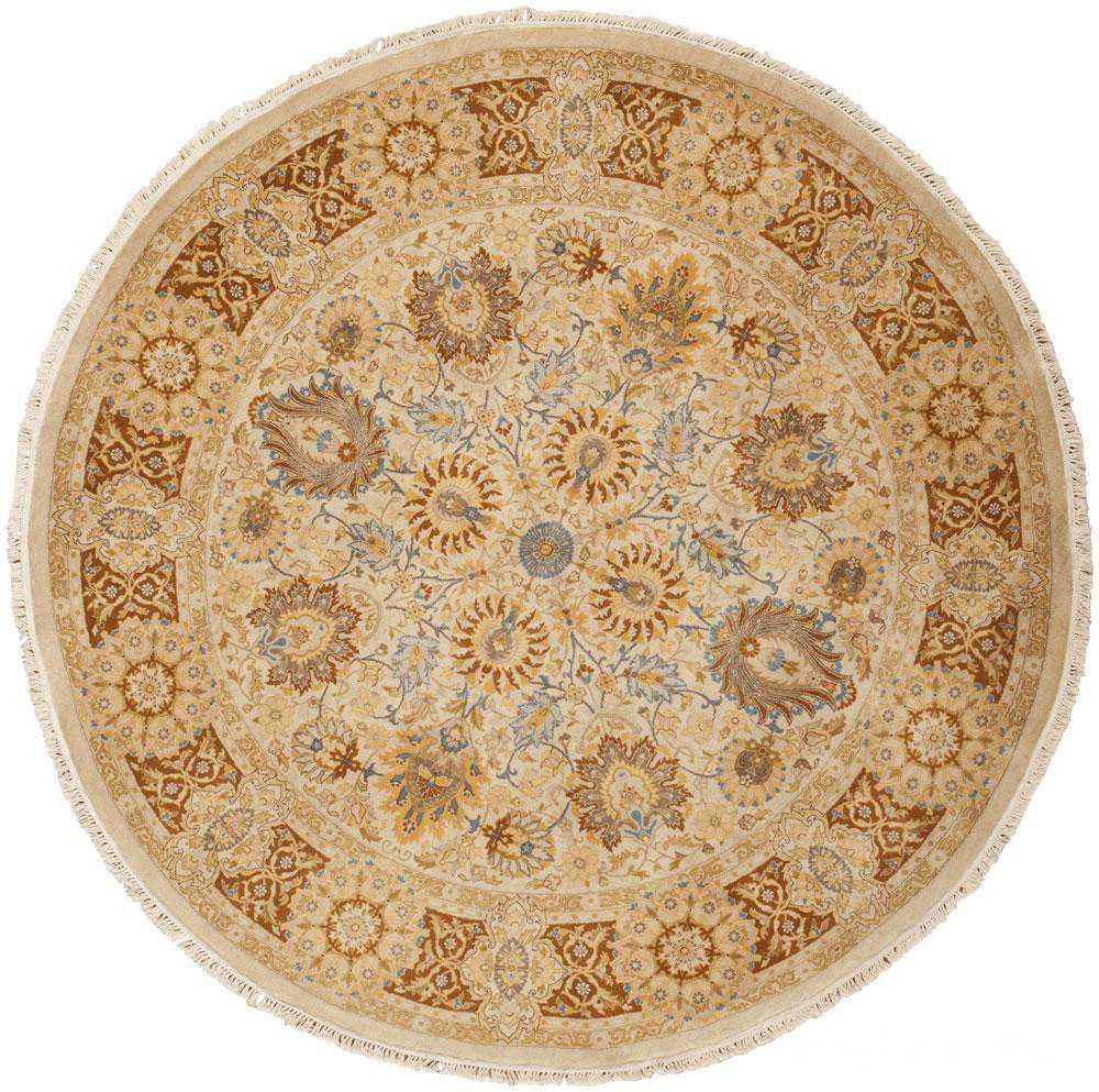 Modern Pakistani Tabriz Design New Round Rug 44674 Nazmiyal