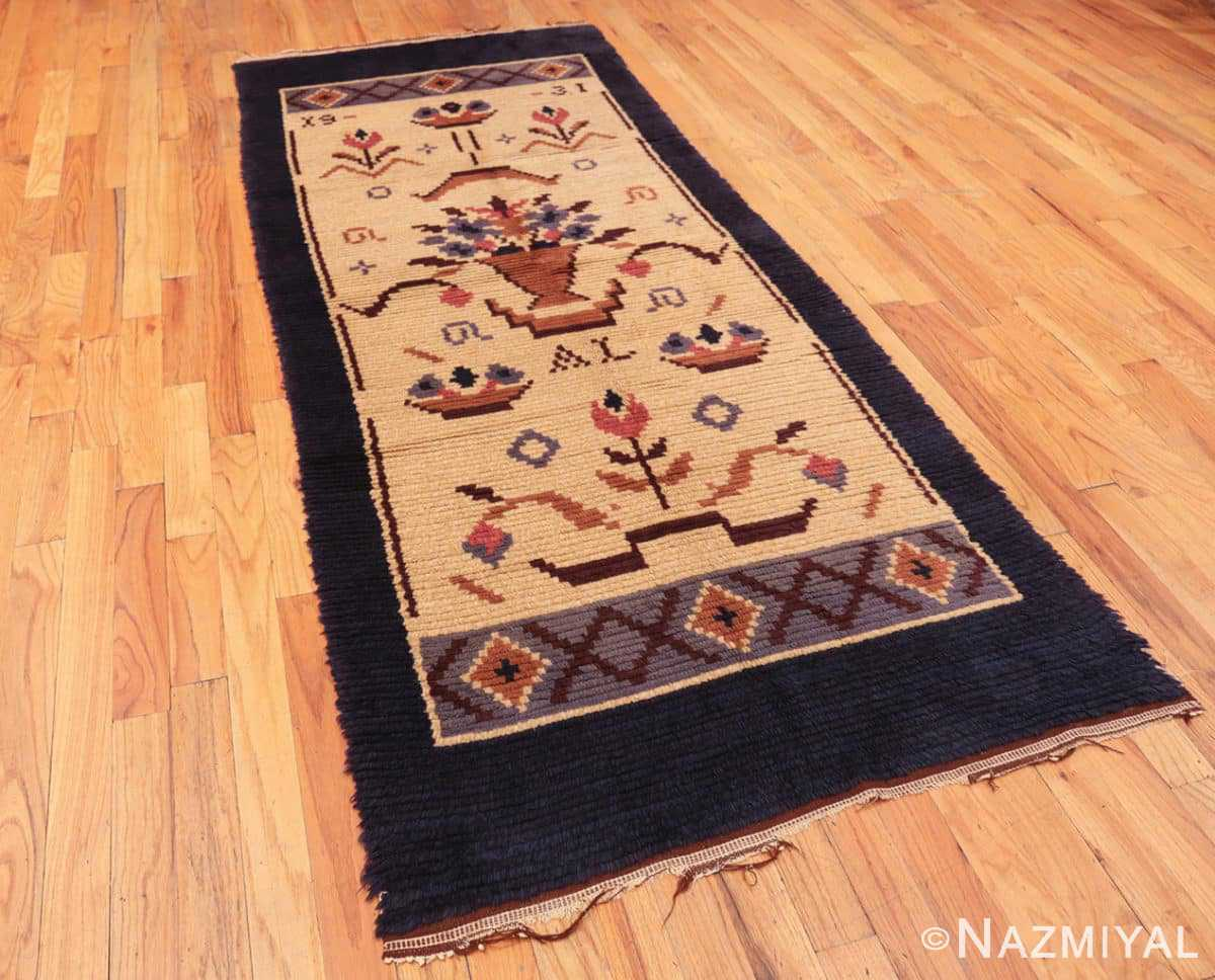 Full Vintage Swedish design by Barbro Springchorn rug 46144 from the Nazmiyal collection