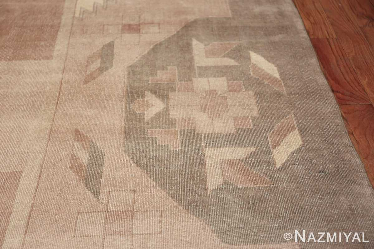 Large Oversized Geometric Art Deco Indian Vintage Rug 44926 Border Design Nazmiyal