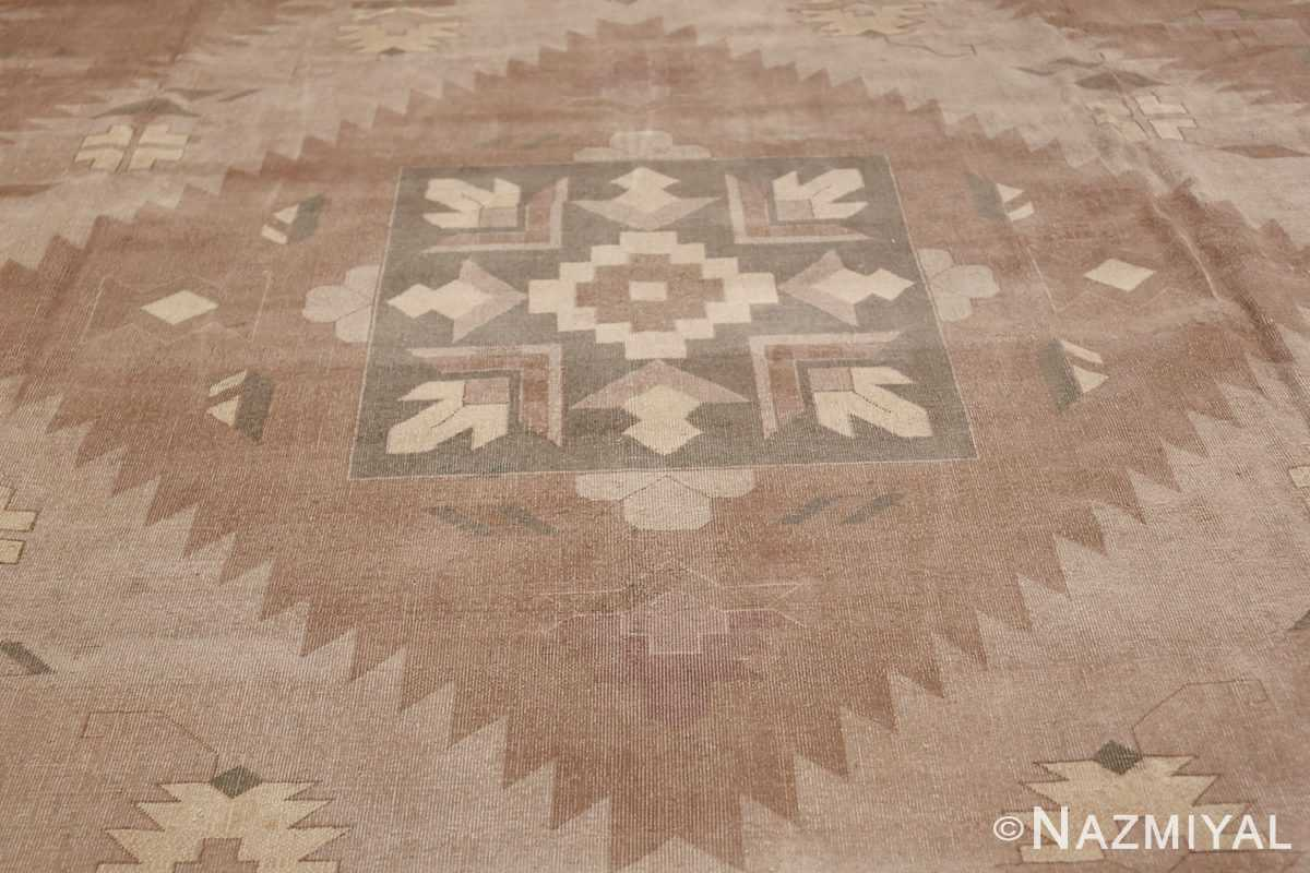 Large Oversized Geometric Art Deco Indian Vintage Rug 44926 Central Medallion Nazmiyal