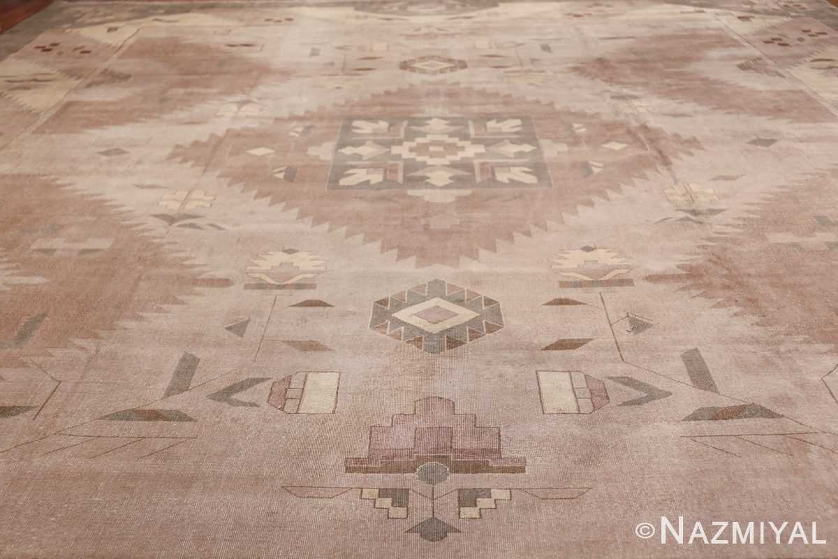 Large Oversized Geometric Art Deco Indian Vintage Rug 44926 Field Wide shot Nazmiyal