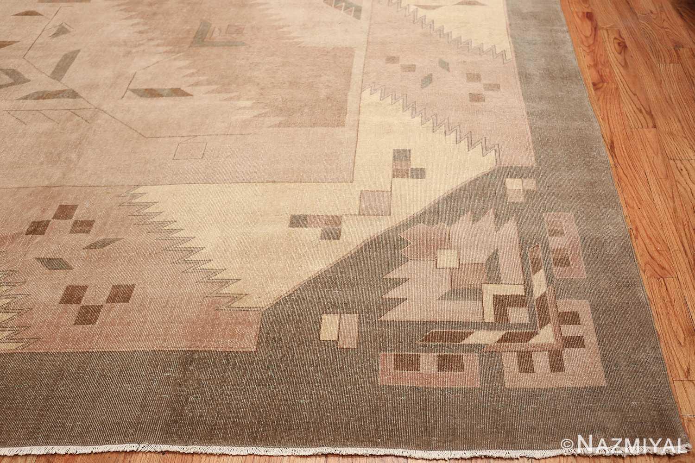 Large Oversized Geometric Art Deco Indian Vintage Rug 44926 Side Corner Nazmiyal