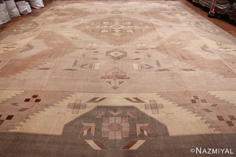 Large Oversized Geometric Art Deco Indian Vintage Rug 44926 Whole Design Nazmiyal