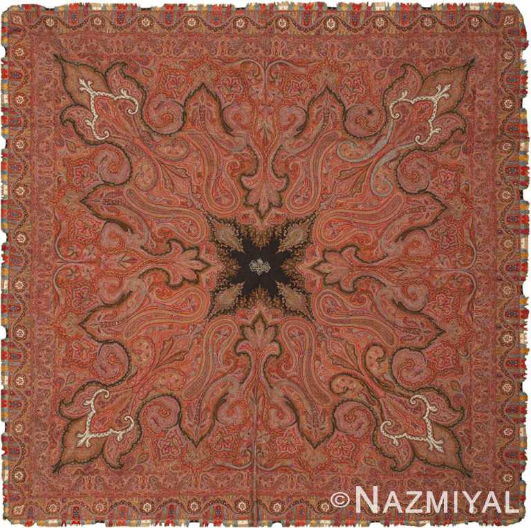 Square Antique Indian Shawl #46117 by Nazmiyal Antique Rugs