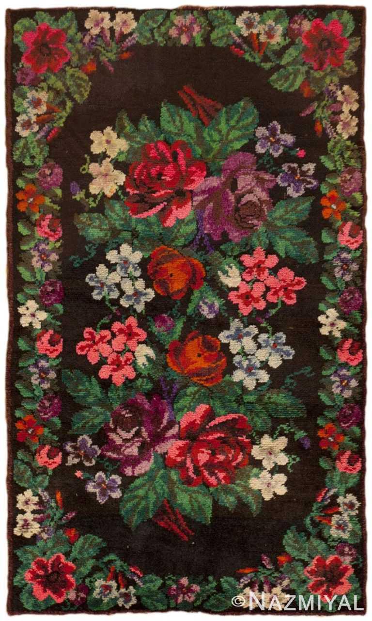 Vintage Swedish Floral Pile Rug #46145 by Nazmiyal Antique Rugs