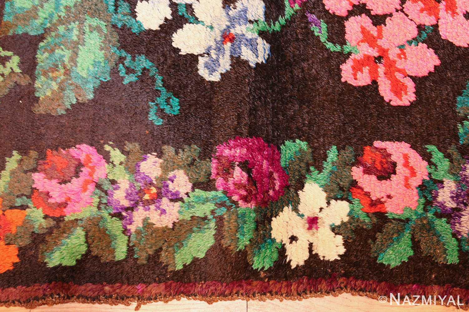 vintage swedish rug 46145 border Nazmiyal