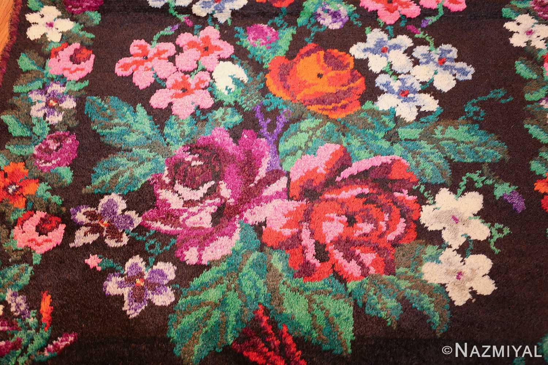 vintage swedish rug 46145 bouquet Nazmiyal